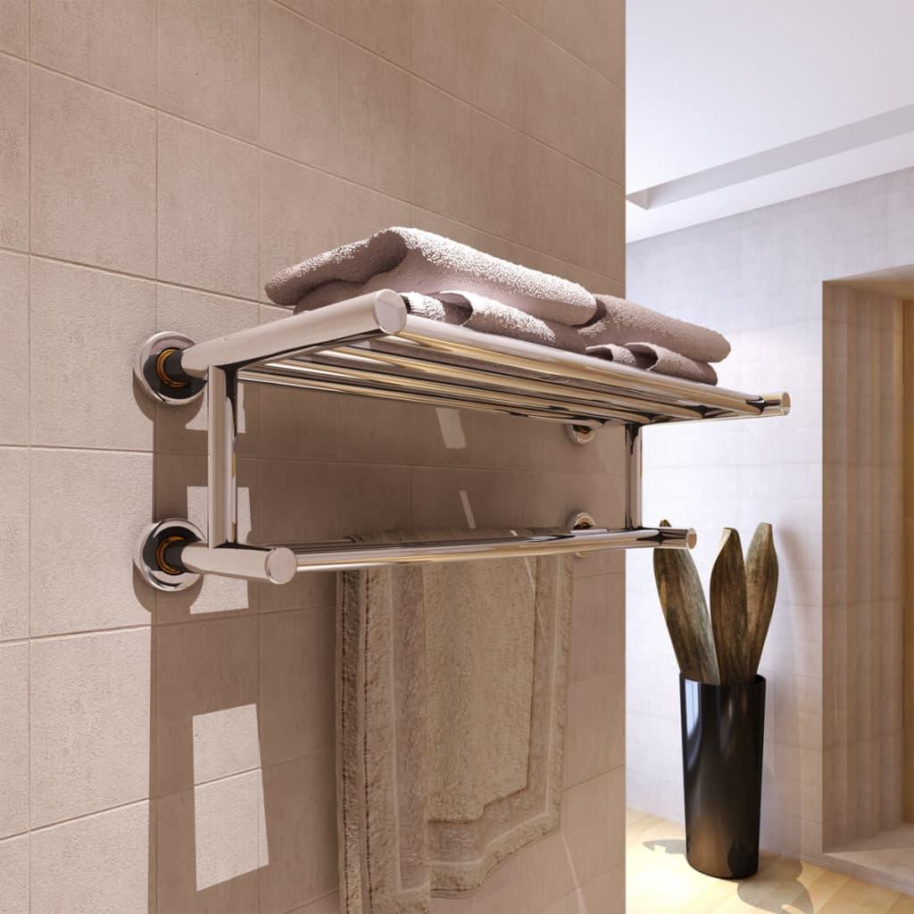 Stainless steel towel rack 6 tubes - Accroche serviette salle de bain ...