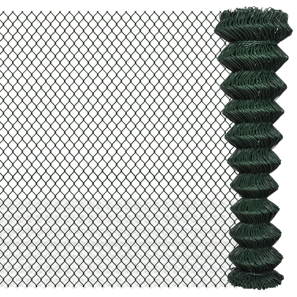 Green Galvanized Steel Mesh Wire Chain-link Fence PVC Coating Multi ...