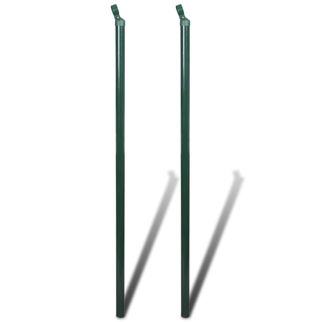 Der Maschendrahtzaun 1 25x15 m grün Zaun SET Maschendraht online