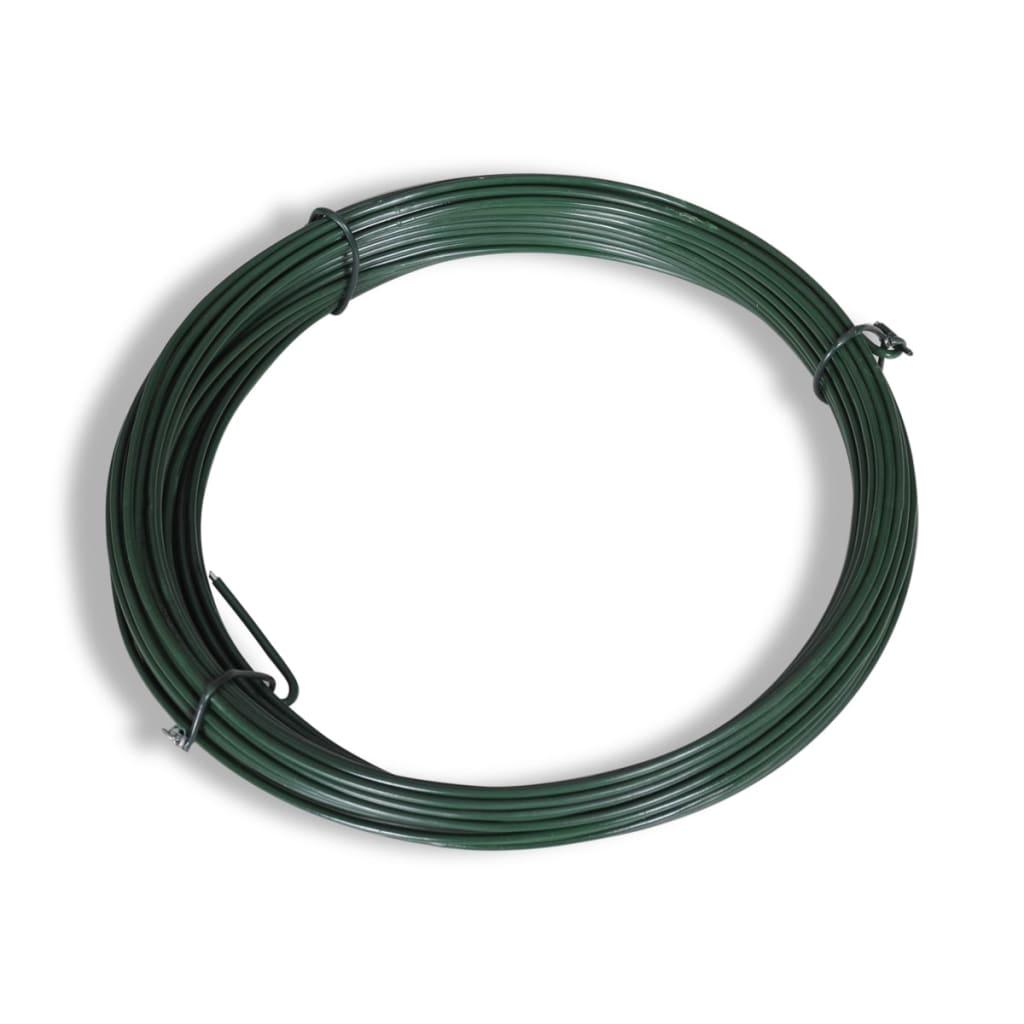 vidaXL-Grillage-vert-0-8x25-m-avec-poteaux-et-accessoires-Cloture-de-jardin