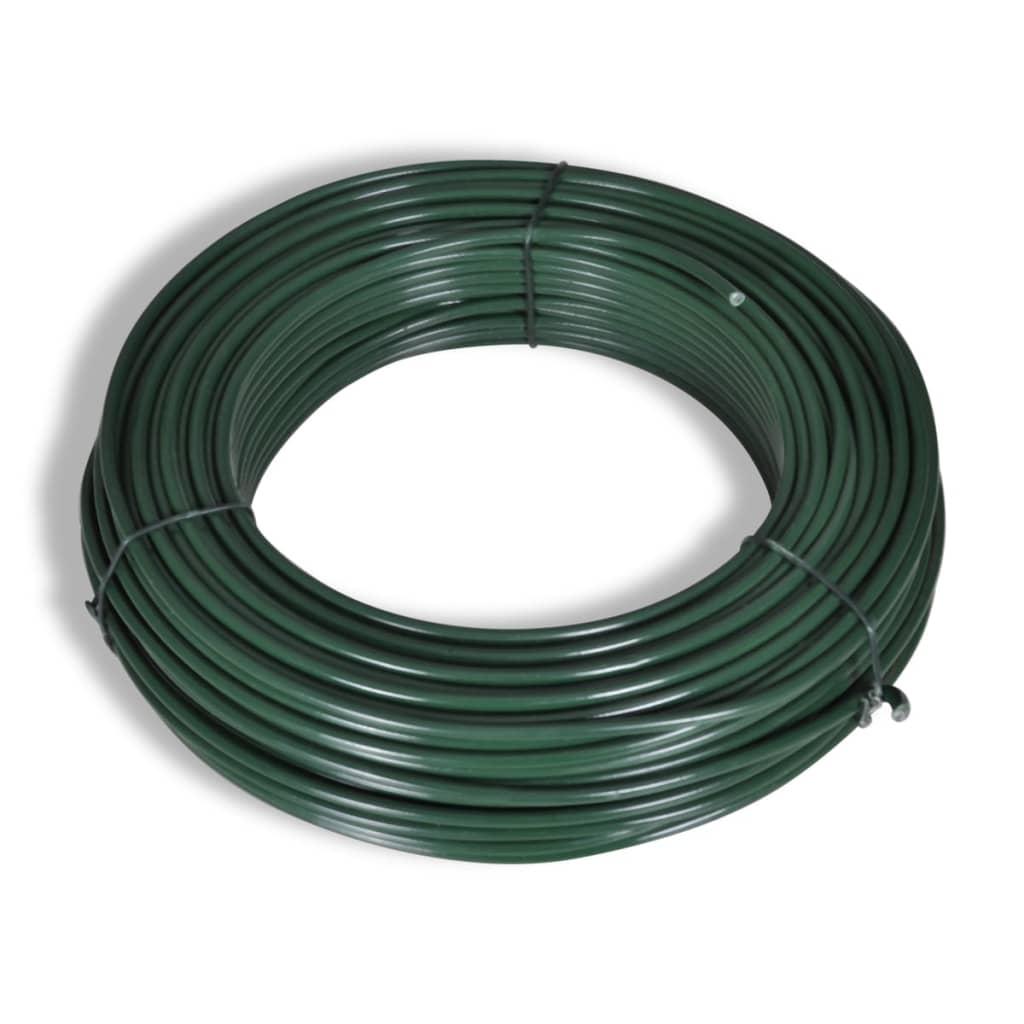 1x25-m-Recinto-in-rete-metallica-verde-con-pali-e-tutti-gli-accessori