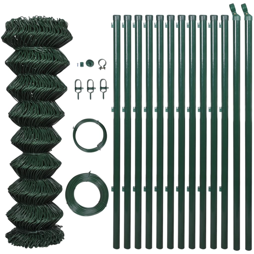 vidaxl-chain-fence-125-x-25-m-green-with-posts-all-hardware