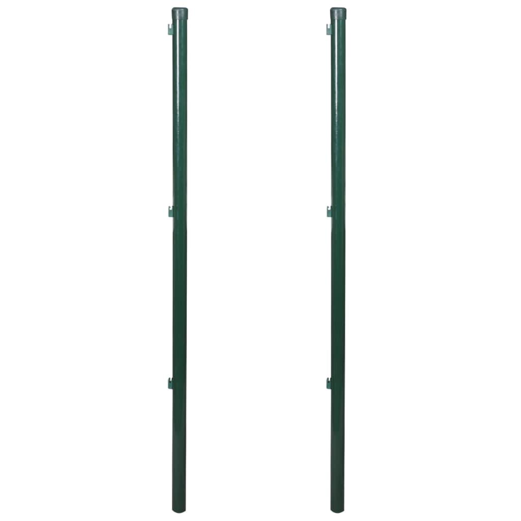 vidaXL Kerítés oszlopok 2 db 150 cm