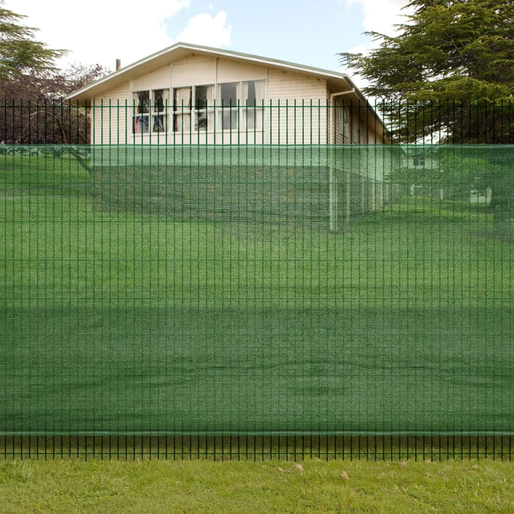 vidaXL 2 x 5 m Fence Windscreen-Privacy Mesh Screen/Net-Green