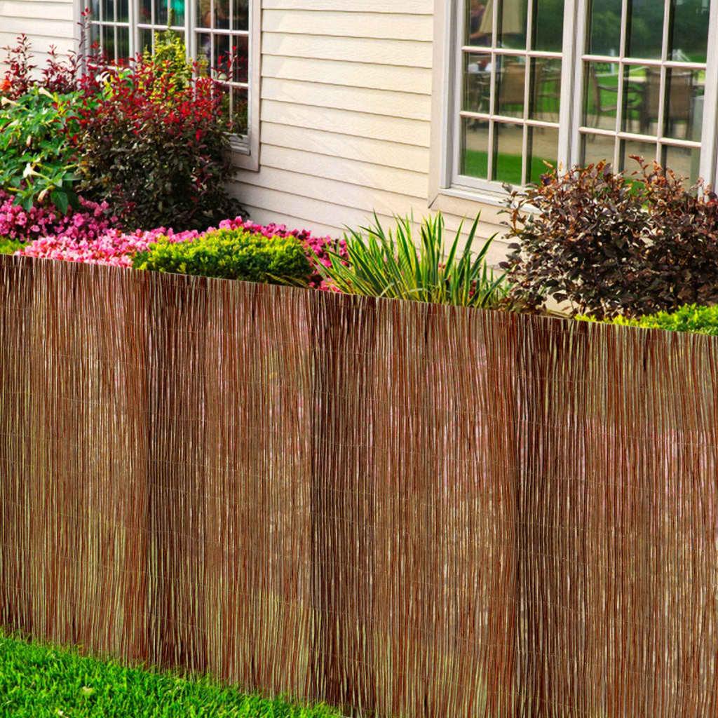 vidaXL Fűzfa kerítés 100 x 500 cm