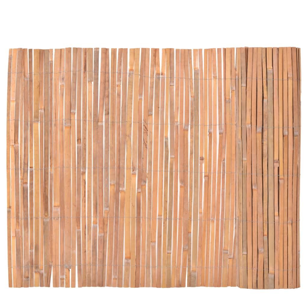 vidaXL Bambusz Kerítés 100 x 400 cm