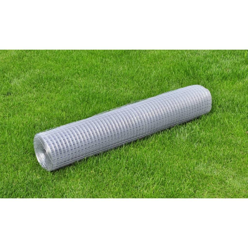 Recinzione-metallica-galvanizzata-maglia-quadrata-1x10-m-0-75-mm
