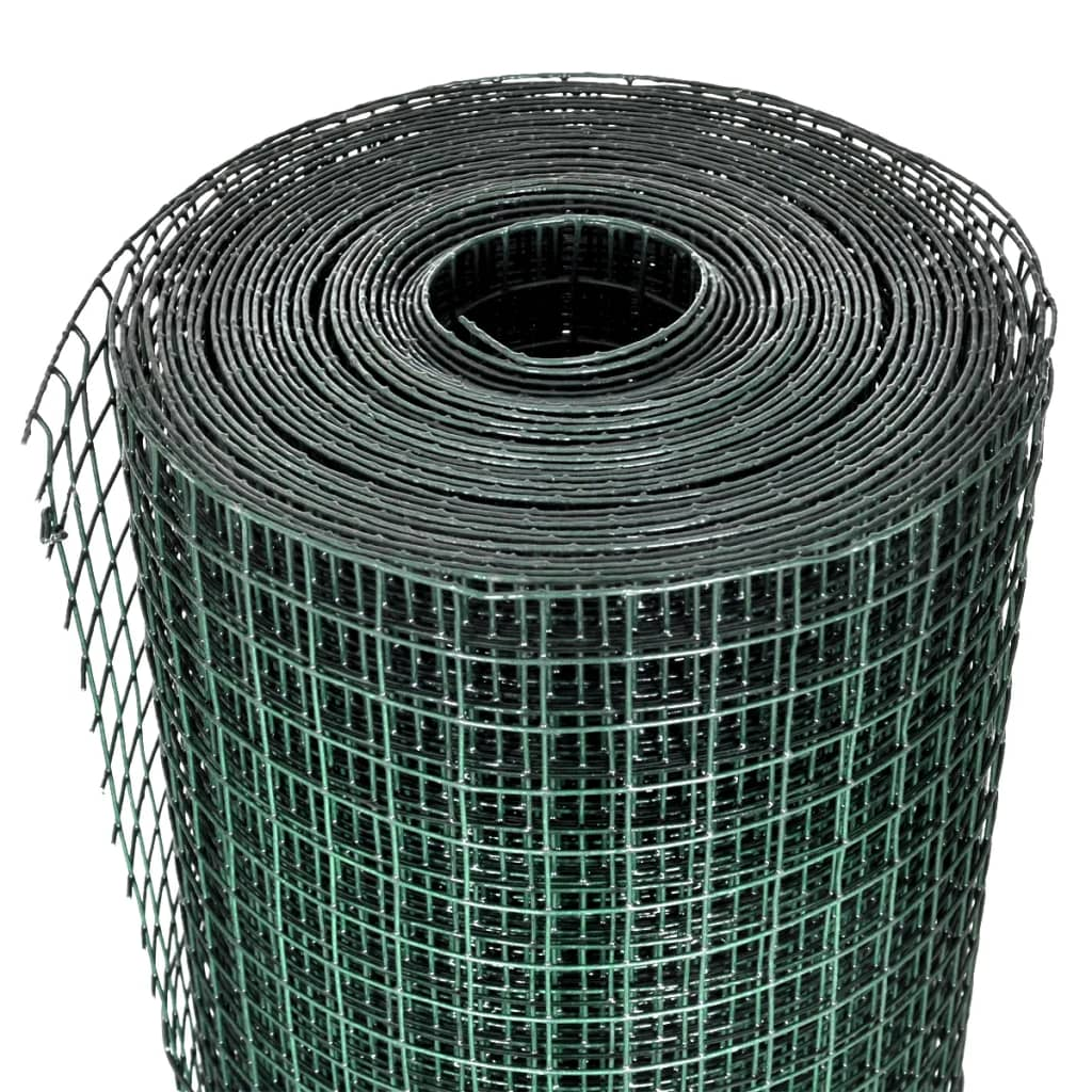 Vidaxl square wire netting m pvc coated
