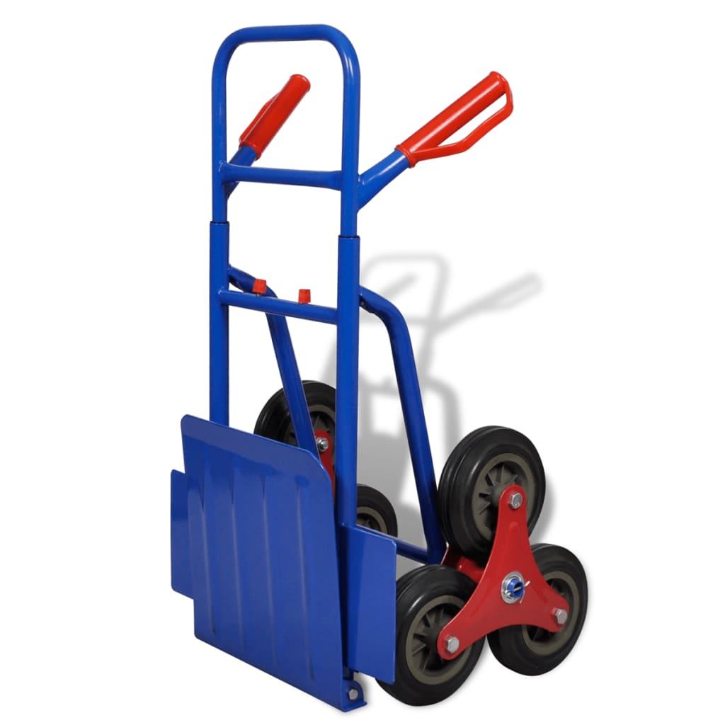 La boutique en ligne diable 6 roues bleu et rouge capacit de charge 150 kg - Diable 6 roues ...