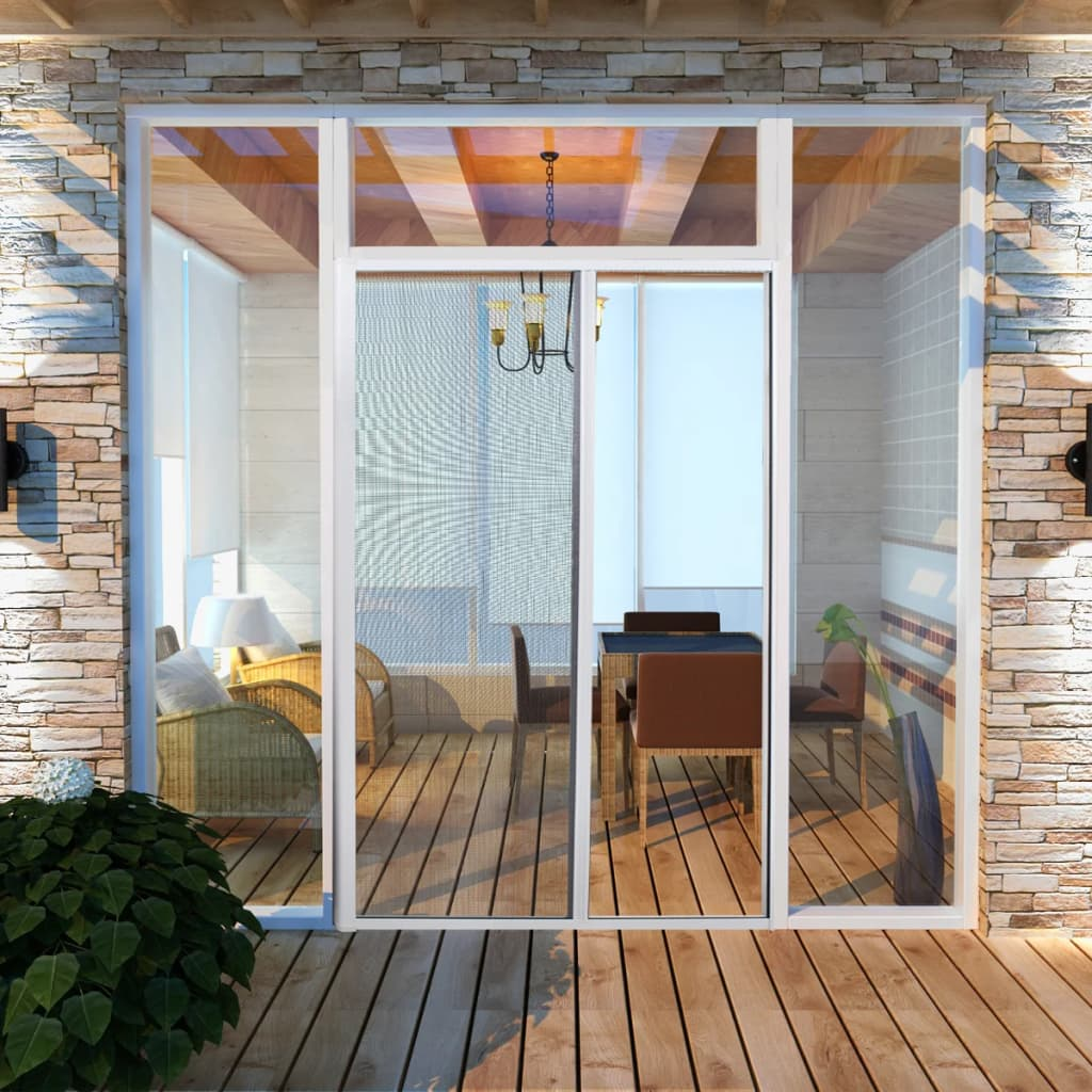 vidaXL Insect Screen Rolling Door 120 x 215 cm White