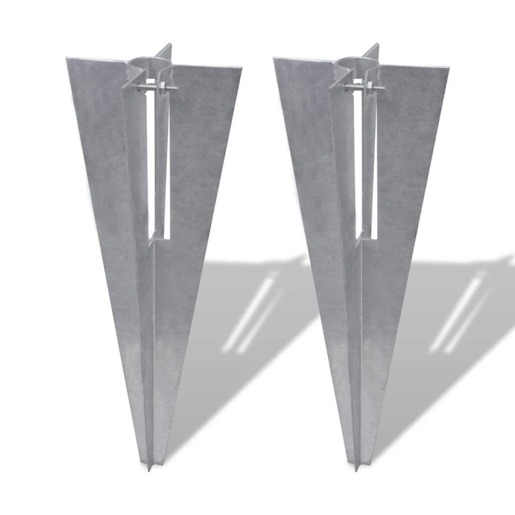 vidaXL 2x Pfostenträger Einschlaghülse Bodenhülse Hülse für Zaunpfosten 34mm