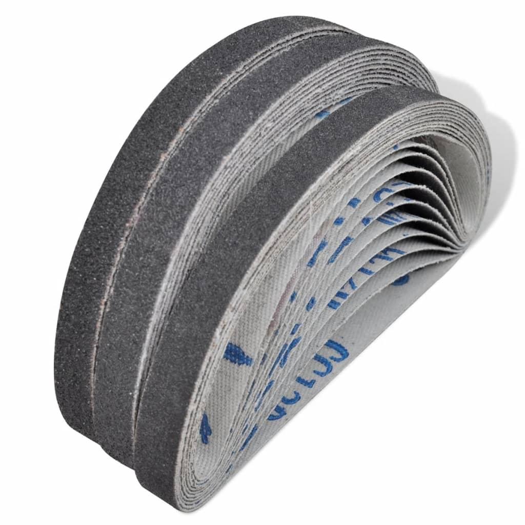vidaXL 30 darab pneumatikus csiszolószalag: 10 db 60-as, 80-as, 120-as, mm x 330
