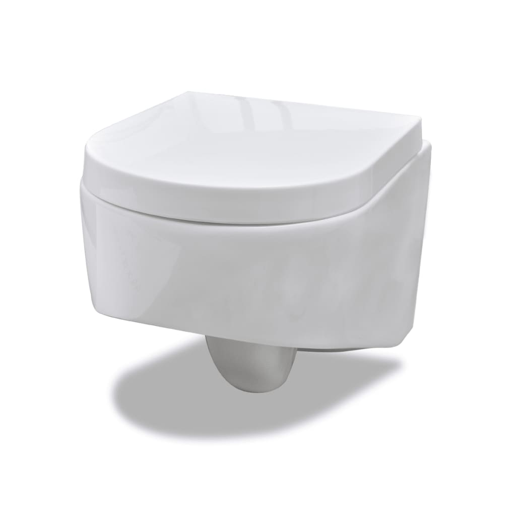 Wall hung toilet white quality 55 x 35 x 33 5 cm - Commode profondeur 35 cm ...