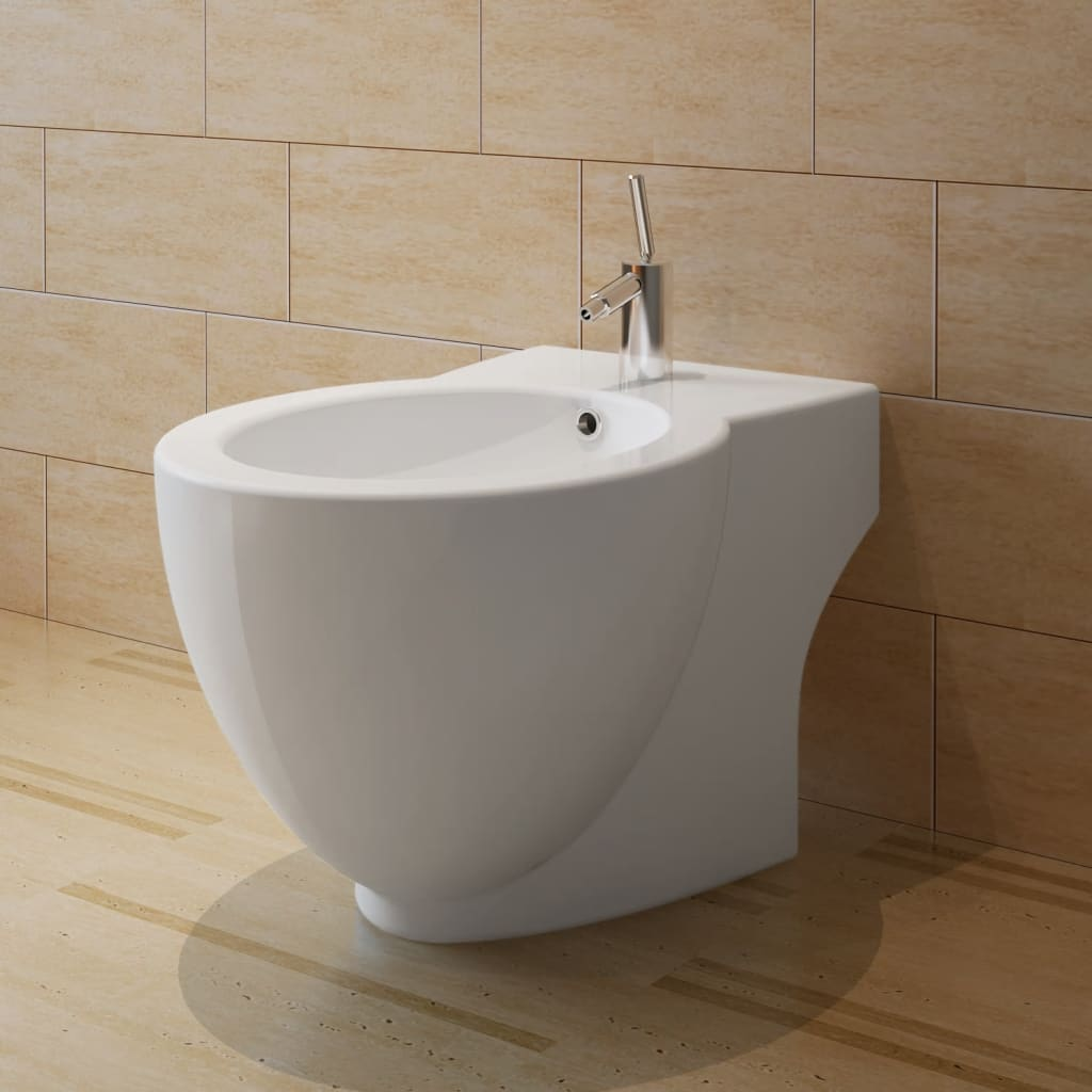 vidaXL-Bidet-Stand-White-Ceramic-Round-Bathroom-Toilet-Washing-Sink-Fixture
