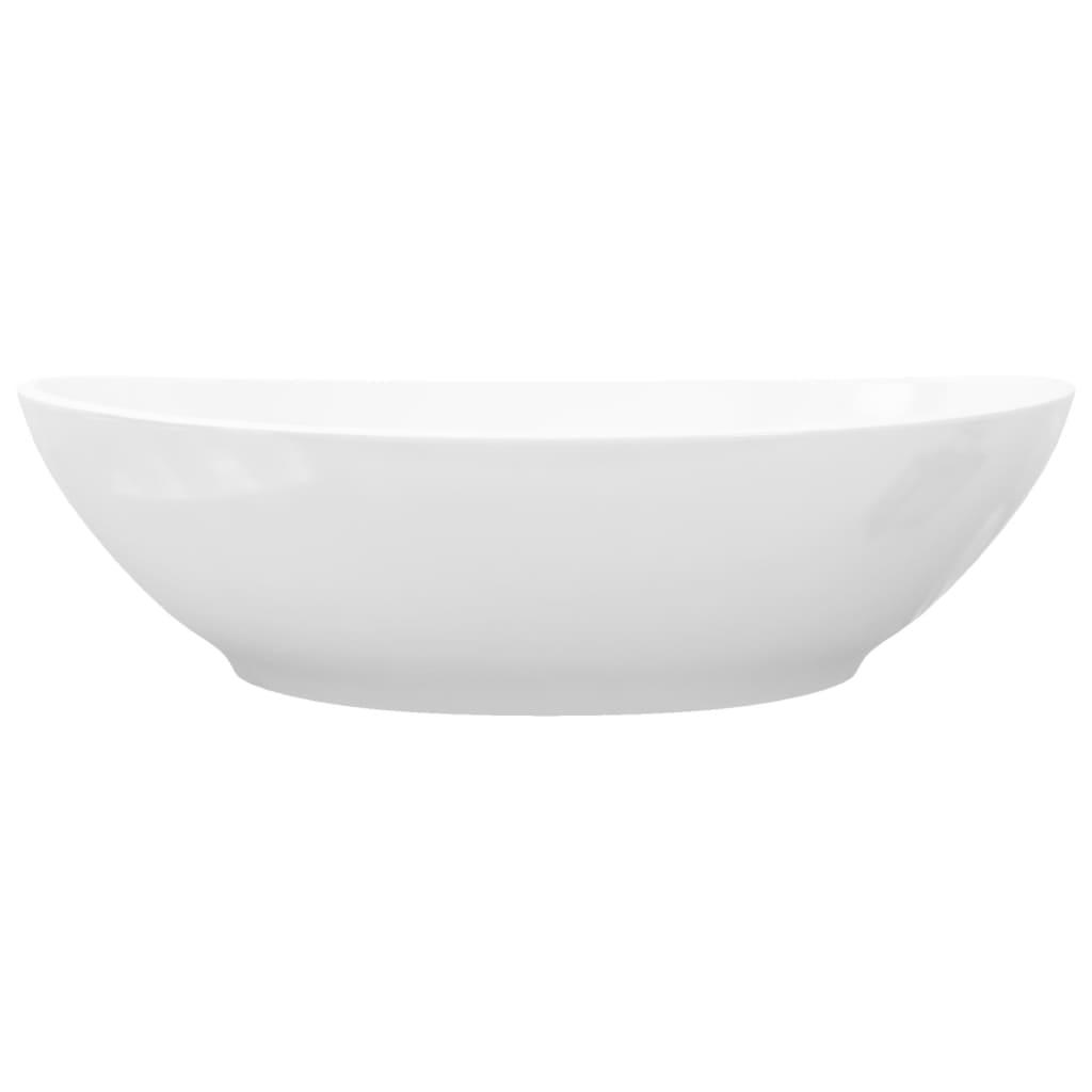 vidaXL.co.uk Luxury Ceramic Basin Oval-shaped Sink White 40 x 33 cm