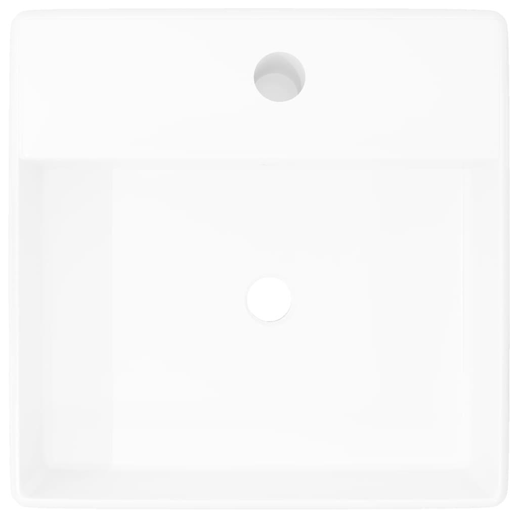 Questo Lavandino Quadrato In Ceramica Di Alta Qualità, Che Darà Un Tocco Di  Stile Al Vostro Bagno. Con Finitura Lucida E Un Design Elegante E Moderno.