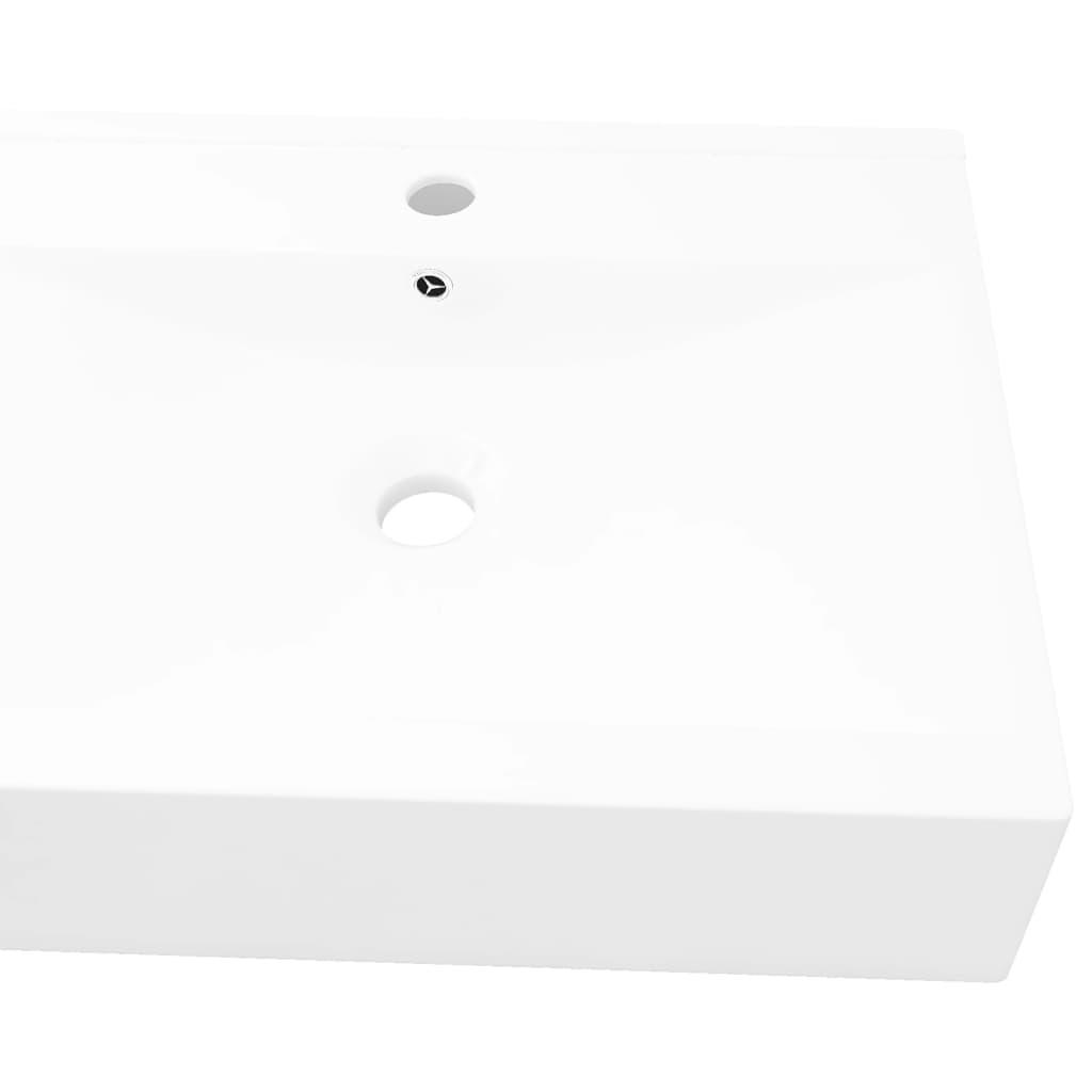 vasque a poser ceramique rectangulaire vidaXL Vasque à Poser en Céramique Rectangulaire Blanche Lave-mains Lavabo  3 3 sur 7 ...