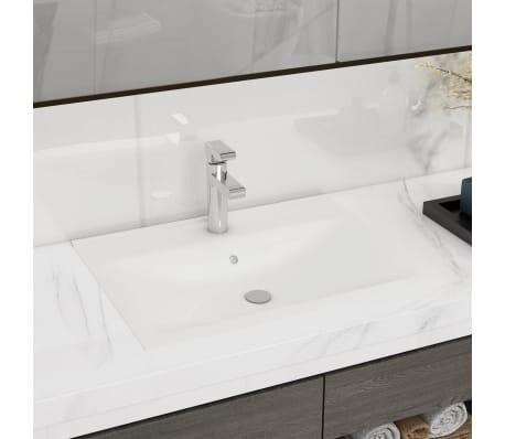 la boutique en ligne vasque poser en c ramique rectangulaire blanche 60 x 46 cm. Black Bedroom Furniture Sets. Home Design Ideas
