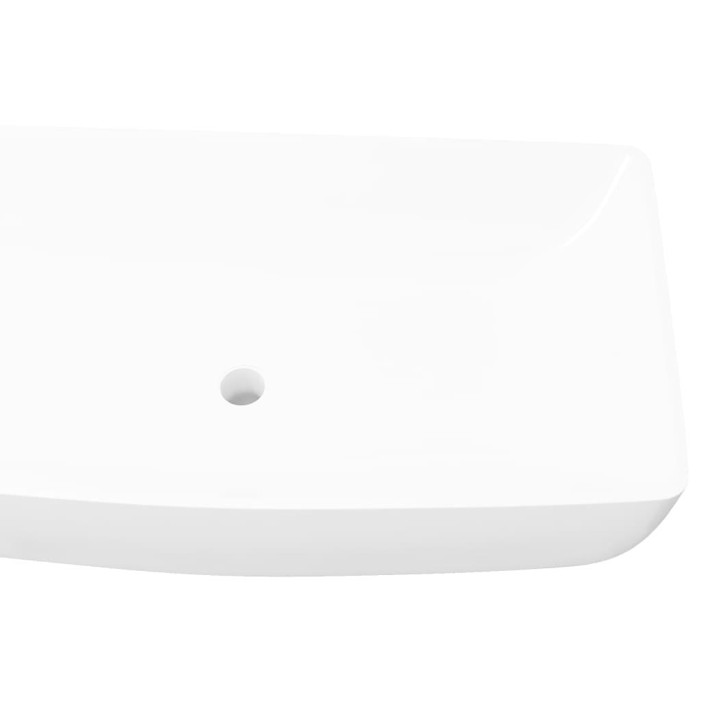 keramik waschtisch waschbecken rechteckig wei 71 x 39 cm zum schn ppchenpreis. Black Bedroom Furniture Sets. Home Design Ideas