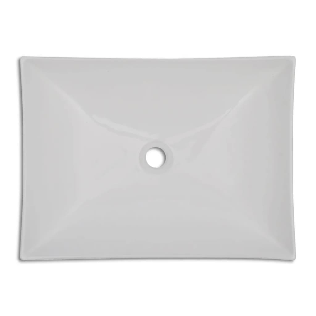 New-Bathroom-Ceramic-Basin-Vessel-Sink-Wash-Basin-Curved-Square-White-65-5x39cm
