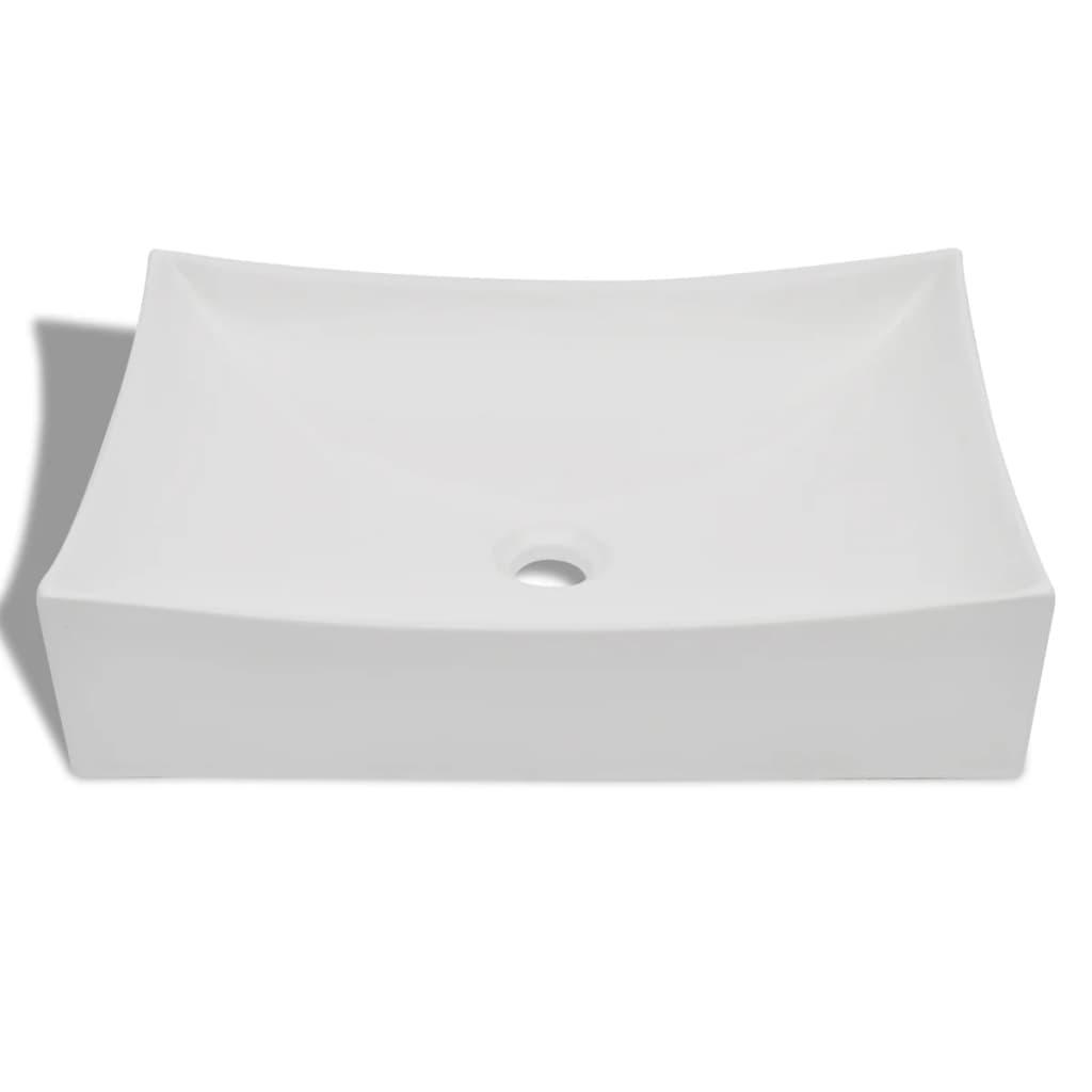 vidaXL-Lavello-Ceramica-porcellana-Bianco-Laccato