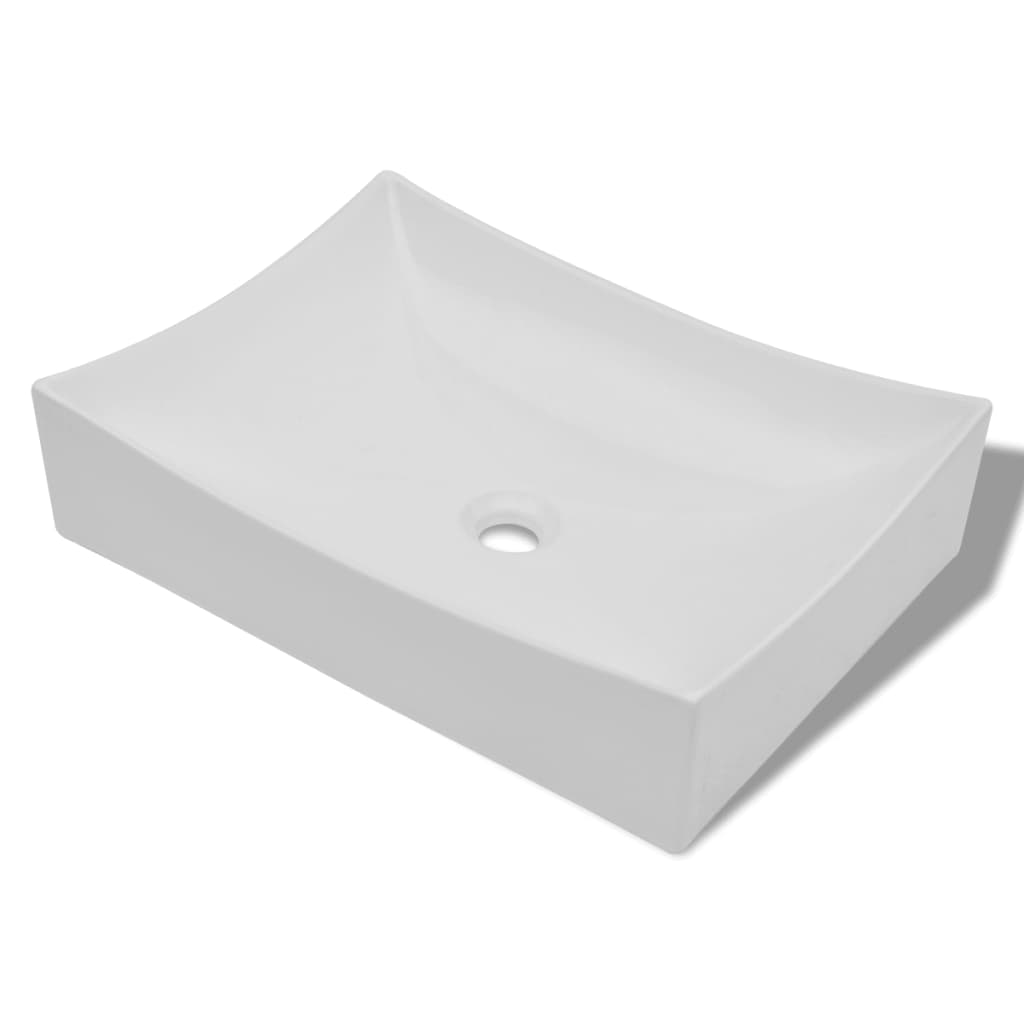 ... .co.uk Bathroom Ceramic Porcelain Sink Art Basin White High Gloss