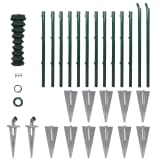 Chain-Link Fence Set with Posts Spike Anchors 1,0 x 25 m