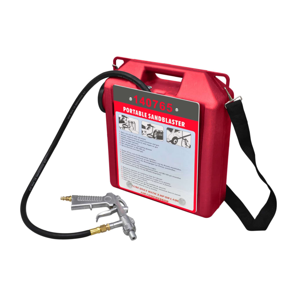 vidaXL Portable Air Sand Blaster Kit With Sandblasting Gun And Hose