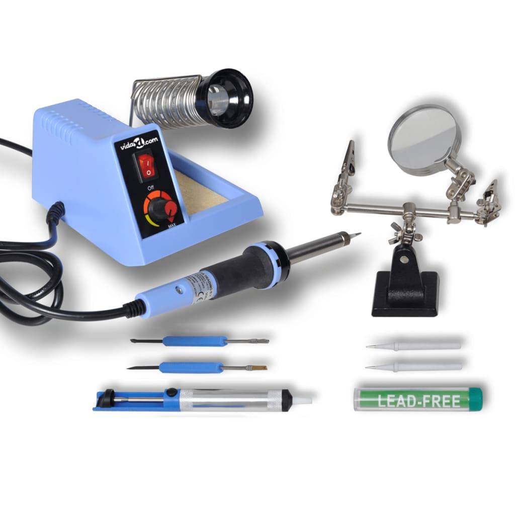 Afbeelding van vidaXL Analoog soldeerstation 48W met accessoires