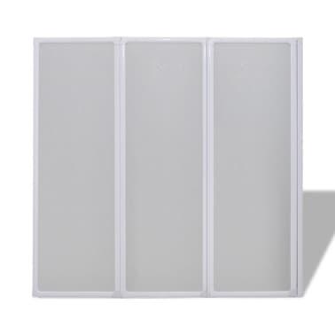 la boutique en ligne pare baignoire 3 volets r tractables 117 x 120 cm. Black Bedroom Furniture Sets. Home Design Ideas