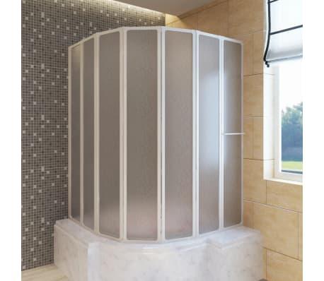 Mampara de ducha con 7 paneles plegables y toallero tienda for Toallero para ducha