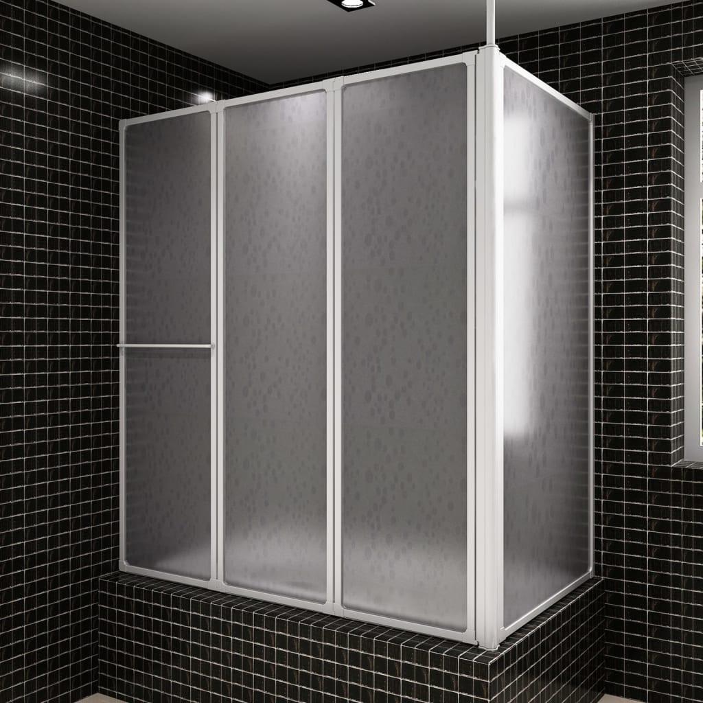Mampara de ducha con 4 paneles plegables y toallero tienda - Mamparas de ducha plegables ...