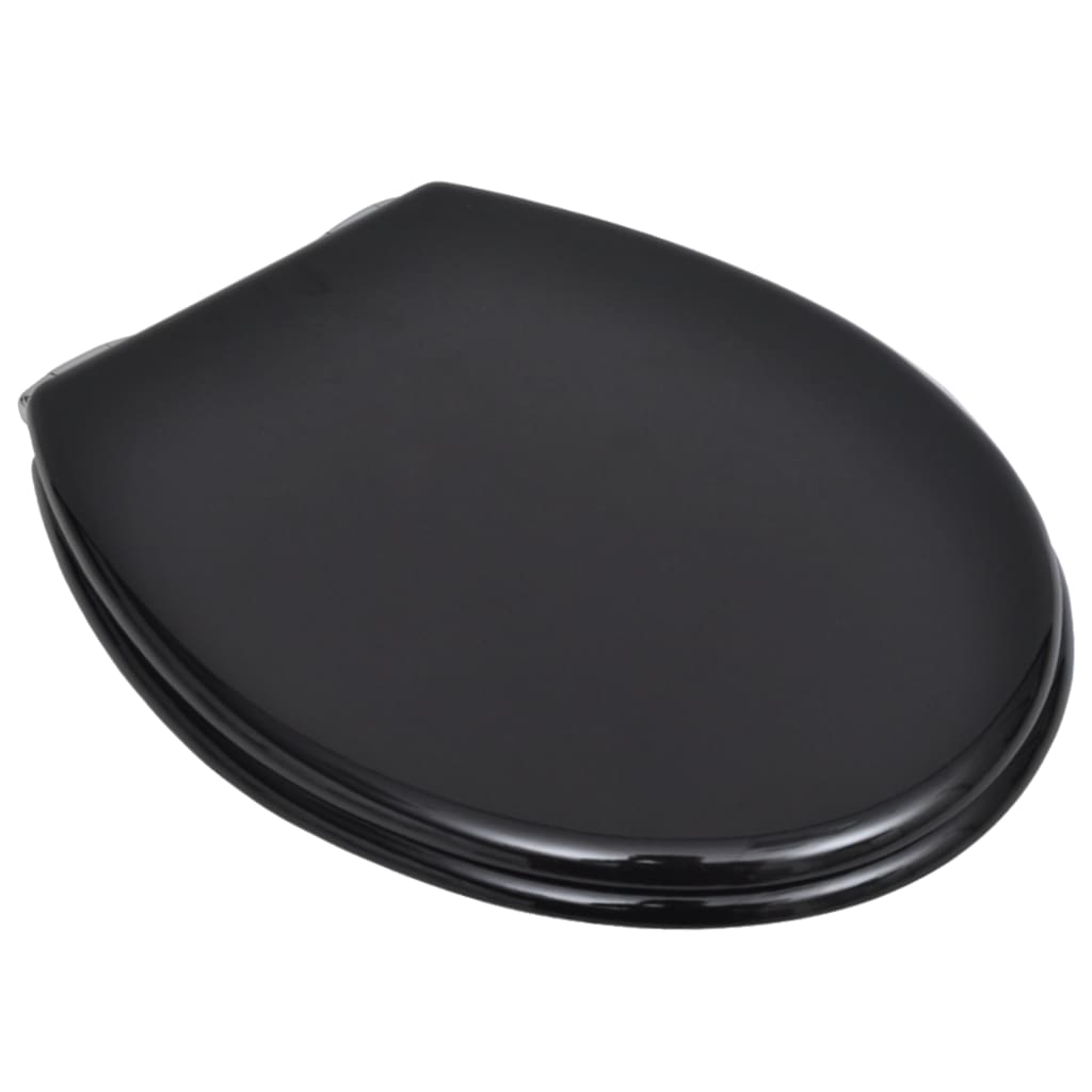 Wc Toilet Seat Mdf Soft Close Lid Simple Design Black