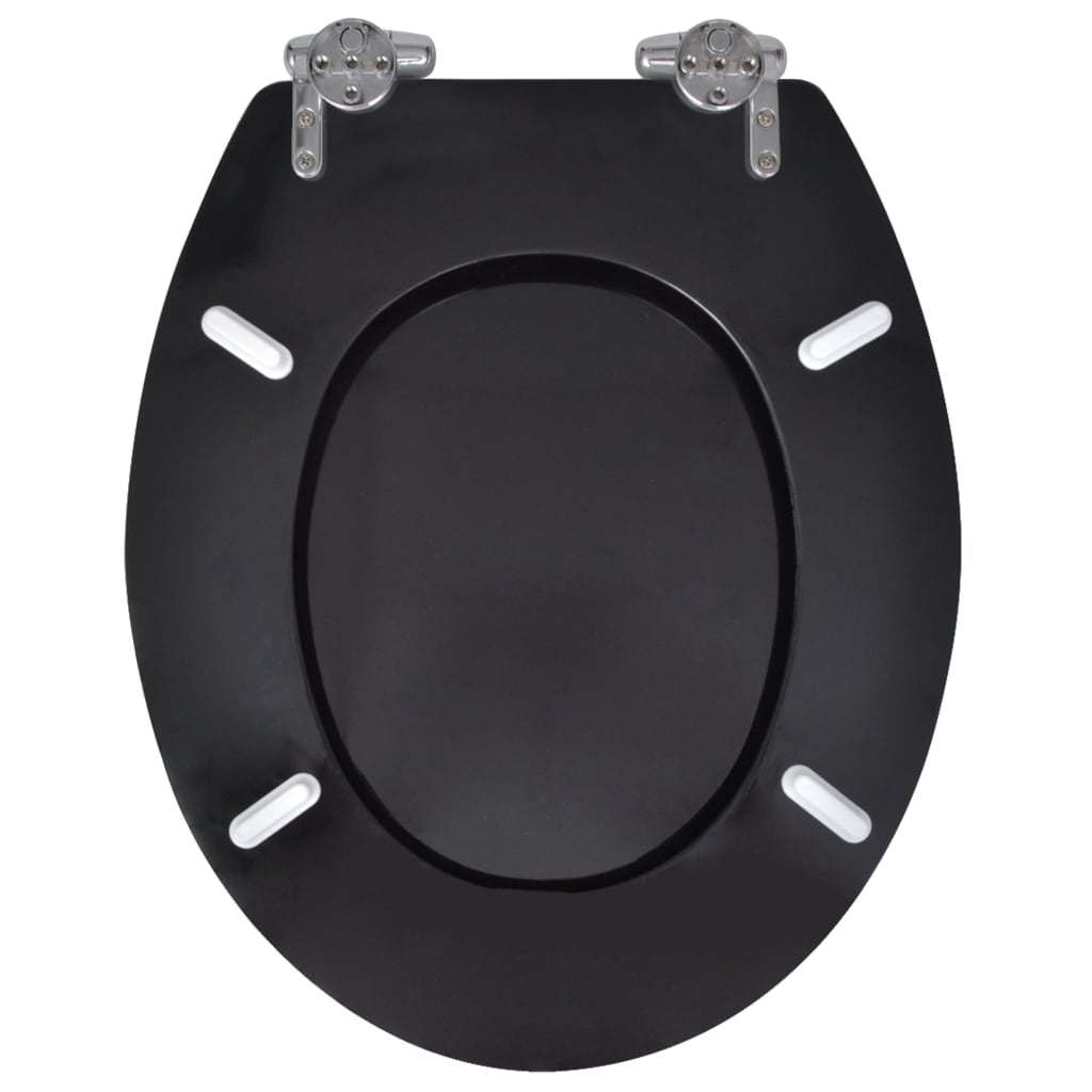 der wc toilettendeckel toilette deckel absenkautomatik schwarz online shop. Black Bedroom Furniture Sets. Home Design Ideas