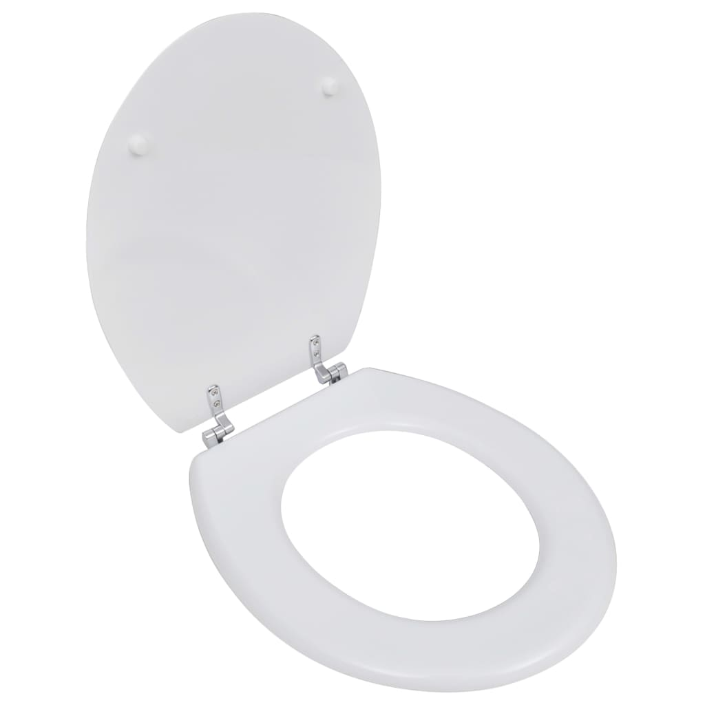 New WC Bathroom Toilet Seat MDF Hard Close Lid Simple Design White Black Brow