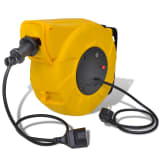 Automatic Retractable Power Cable Reel 14 + 1 m Steel Handle