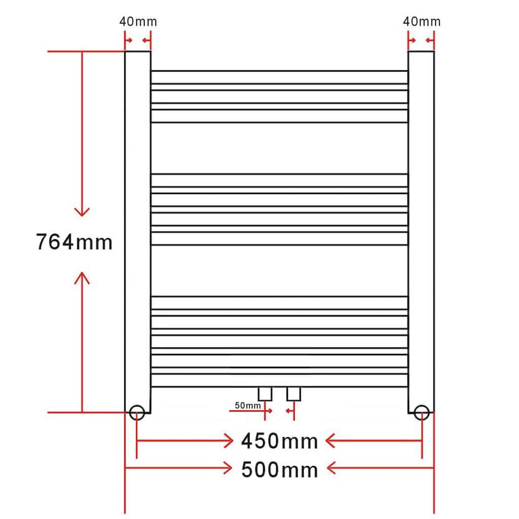 Radiador toallero recto 500 x 764 mm tienda online - Cambiar radiador por toallero ...