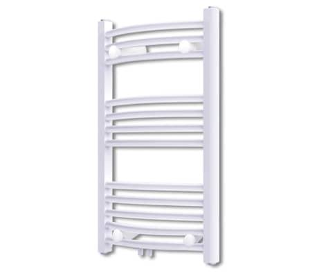 acheter s che serviettes chauffage central incurv 500x764mm connecteurs pas cher. Black Bedroom Furniture Sets. Home Design Ideas