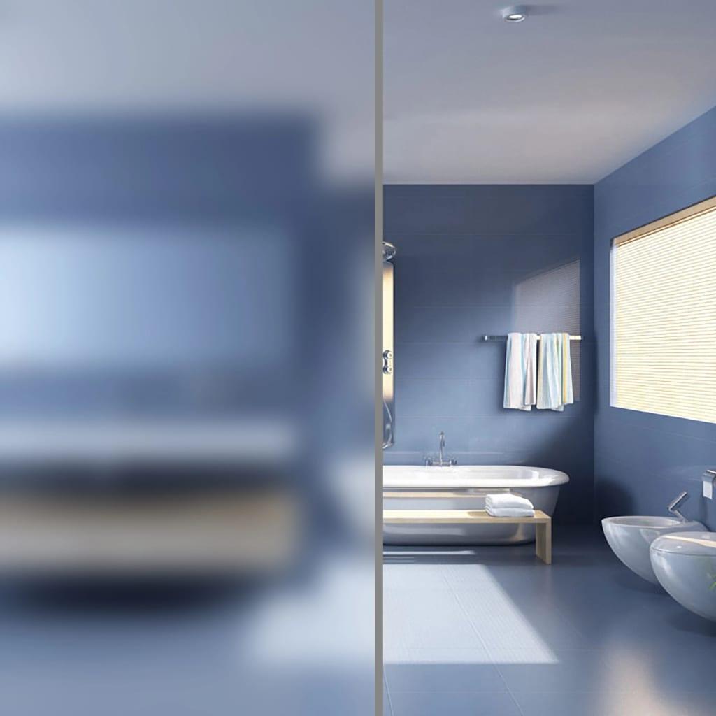 vidaXL Betekintés elleni víztiszta matt ablakfólia 0,9 x 5 m