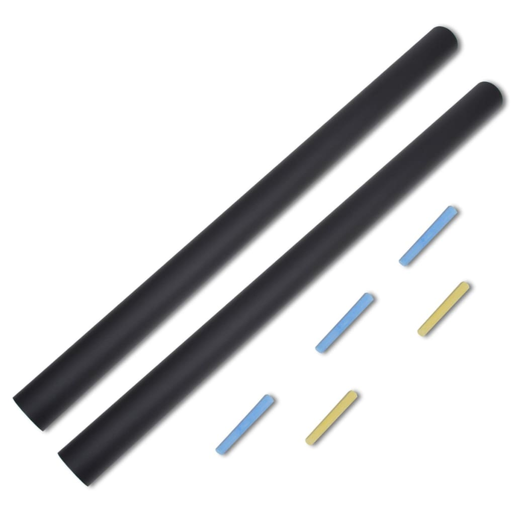 New 60x200cm Black Plain Blackboard Wall Sticker Draw Decor Mural Decals Chalk