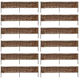 vidaXL Garden Willow Border Fence 12 pcs 120 x 35 cm