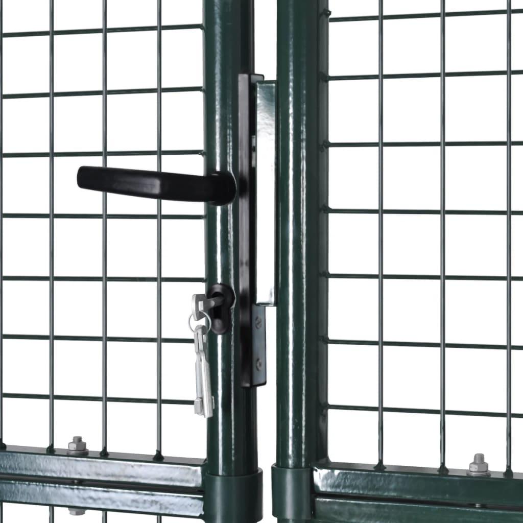 Puerta de malla de jard n verja de pared 289x175cm for Puertas para jardin baratas