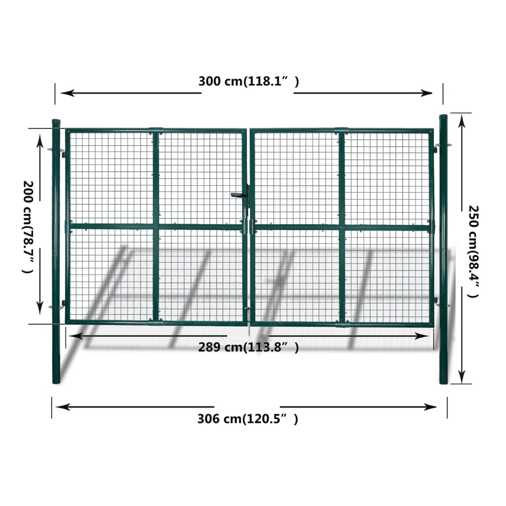 Vidaxl Co Uk Garden Mesh Gate Fence Door Wall Grille 289