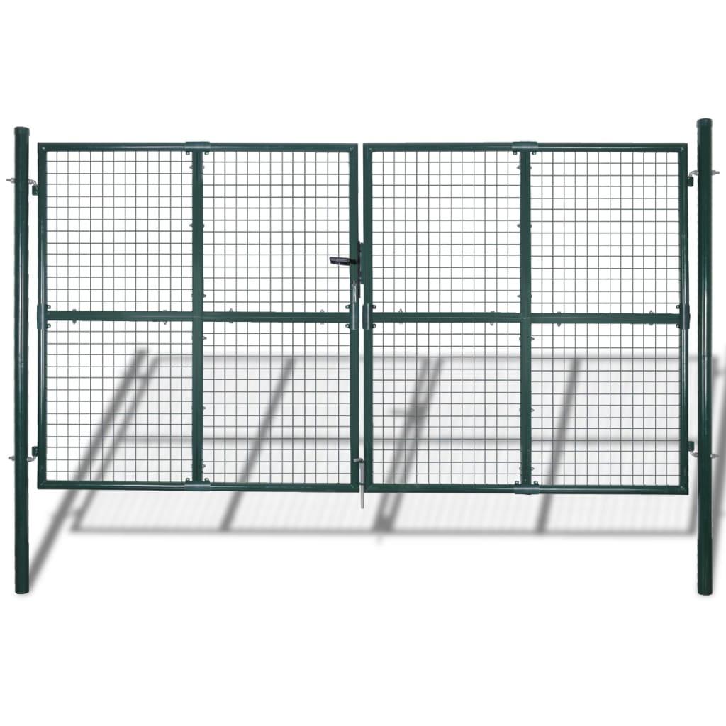 vidaXL Kerti hálórácsos kerítéskapu 289 x 200 cm / 306 250