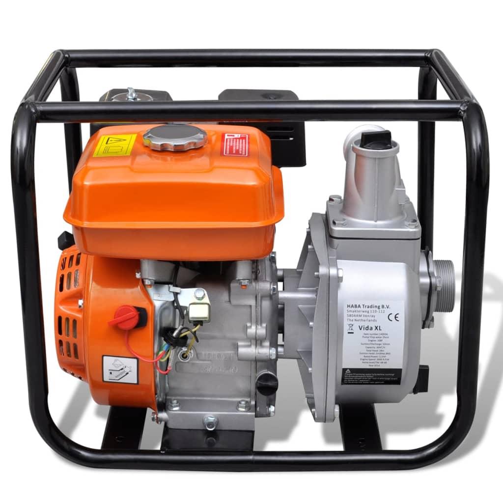 Pompa d 39 acqua con motore a benzina 50 mm collegamento 5 5 for Pompe x laghetti