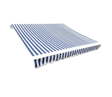 la boutique en ligne store banne en toile bleu et blanc 3 x 2 5 m cadre non inclus. Black Bedroom Furniture Sets. Home Design Ideas