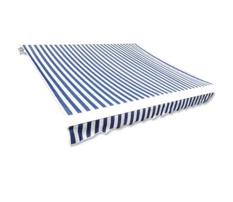 acheter store banne en toile bleu et blanc 4 x 3 m cadre non inclus pas cher. Black Bedroom Furniture Sets. Home Design Ideas