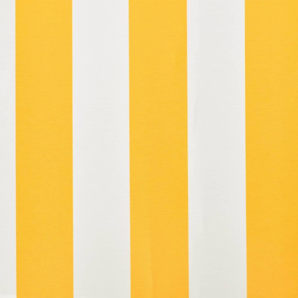 vidaXL-Tendone-superiore-Parasole-Bianco-amp-giallo-4-x-3-m-telaio-non-incluso