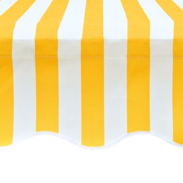 acheter store banne en toile jaune et blanc 4 x 3 m cadre non inclus pas cher. Black Bedroom Furniture Sets. Home Design Ideas
