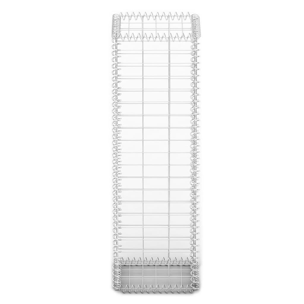 Gabion basket wall with lids galvanized wire 100 x 30 x 30 for Wohnzimmertisch 30 cm hoch